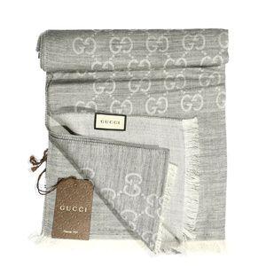NWOT Gucci GG Jacquard Pattern Knitted Scarf